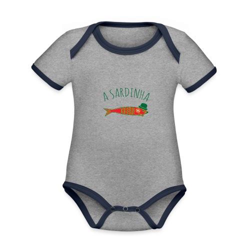 A Sardinha - Bandeira - Body Bébé bio contrasté manches courtes