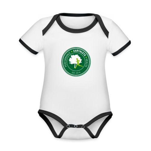 EARTHLETE Brand Logo - Kortærmet økologisk babybody i kontrastfarver