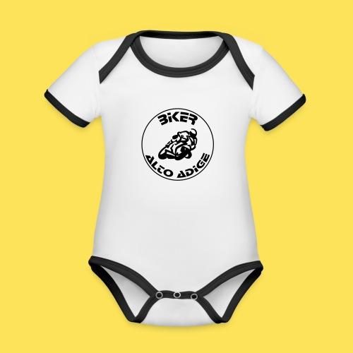 BikerAltoAdige circle logo Jacket - Body da neonato a manica corta, ecologico e in contrasto cromatico