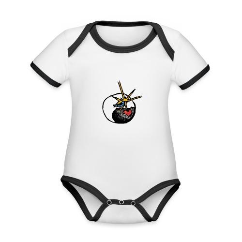 Mindfackt logo - Vauvan kontrastivärinen, lyhythihainen luomu-body