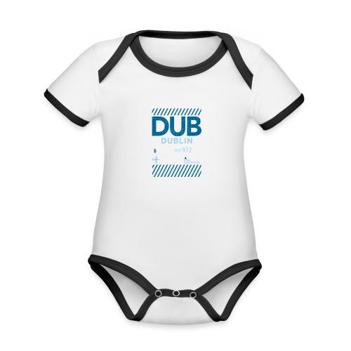 Dublin Ireland Travel - Organic Baby Contrasting Bodysuit
