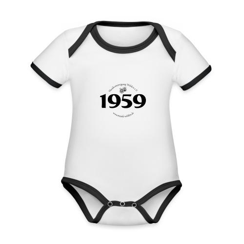 MVW 1959 sw - Baby Bio-Kurzarm-Kontrastbody
