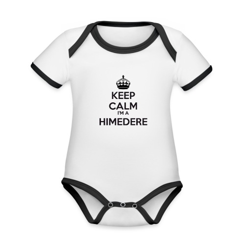 Himedere keep calm - Organic Baby Contrasting Bodysuit