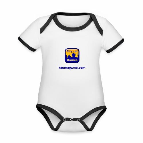 Raumagame logo - Vauvan kontrastivärinen, lyhythihainen luomu-body