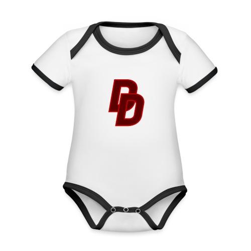 Daredevil Logo - Organic Baby Contrasting Bodysuit