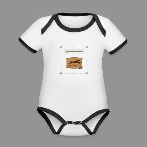 Belgian shepherd Malinois - Organic Baby Contrasting Bodysuit