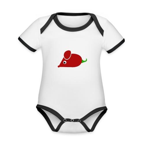 Chillimouse - Baby Bio-Kurzarm-Kontrastbody