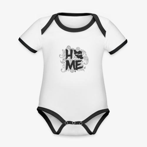 HOME Iran - Baby Bio-Kurzarm-Kontrastbody