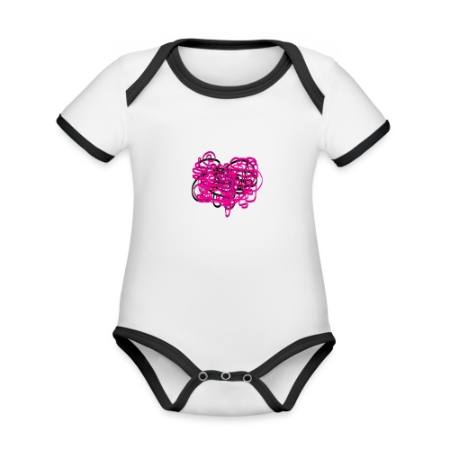 delicious pink - Organic Baby Contrasting Bodysuit