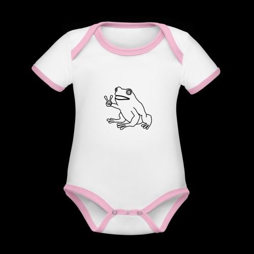 Funny Animal Frog Frosch - Baby Bio-Kurzarm-Kontrastbody