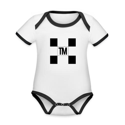 Checkered - Organic Baby Contrasting Bodysuit