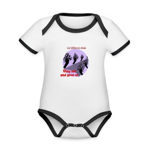 hábitos - Body contraste para bebé de tejido orgánico