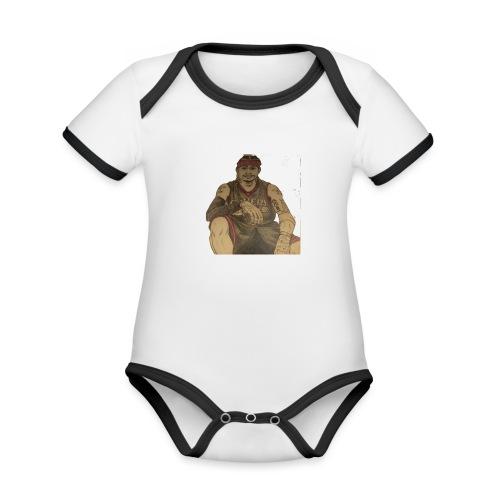jugador - Body contraste para bebé de tejido orgánico