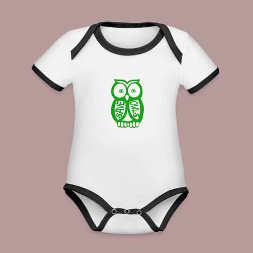Save owls - Body Bébé bio contrasté manches courtes