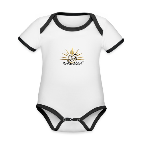 HerzBauchWerk Gold - Baby Bio-Kurzarm-Kontrastbody