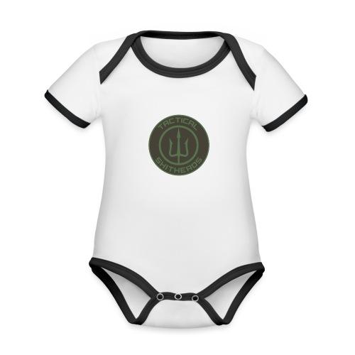 Tactical Shitheads Logo - Baby Bio-Kurzarm-Kontrastbody