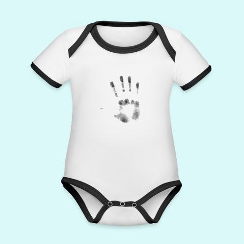 empreinte - Body Bébé bio contrasté manches courtes