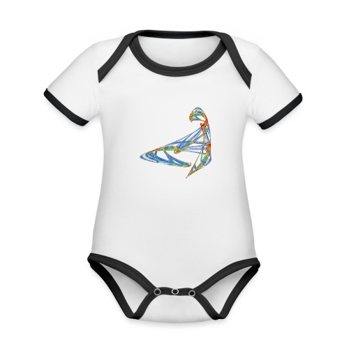 Happy play of colors 853 jet - Organic Baby Contrasting Bodysuit