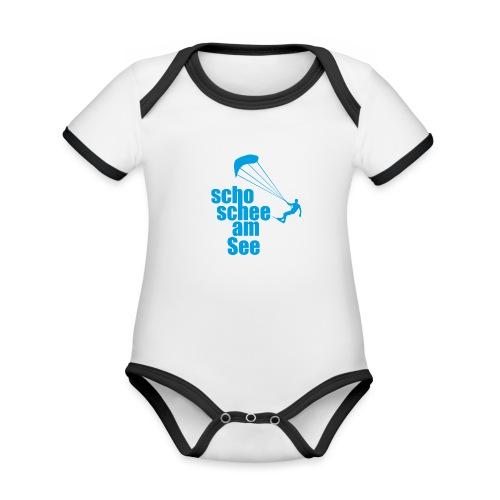 scho schee am See Surfer 01 kite surfer - Baby Bio-Kurzarm-Kontrastbody