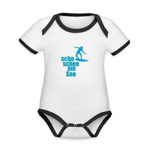 scho schee am See Surfer 04 - Baby Bio-Kurzarm-Kontrastbody