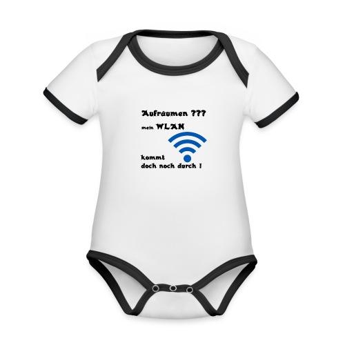Wlan SW - Baby Bio-Kurzarm-Kontrastbody