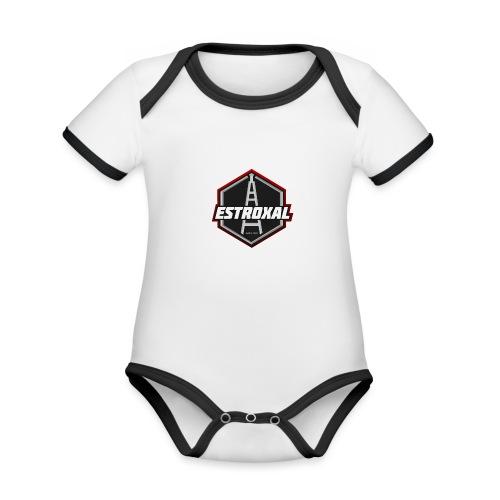 Estroxal - Logo - Vauvan kontrastivärinen, lyhythihainen luomu-body