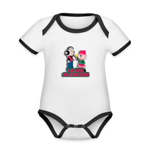 La voz silenciosa - Jose y Arpelio - Body contraste para bebé de tejido orgánico