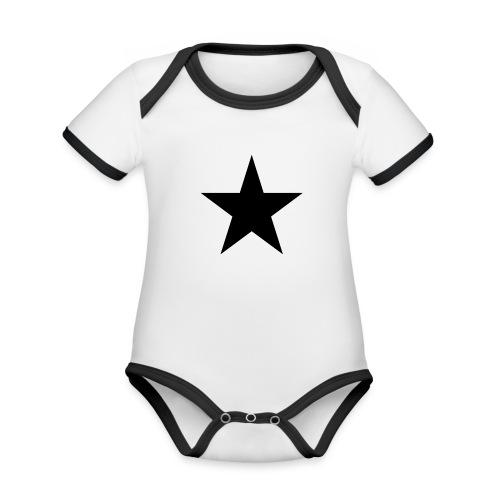 Ardrossan St.Pauli Black Star - Organic Baby Contrasting Bodysuit