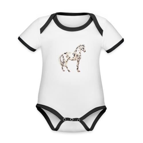 Knabstrupper - Baby Bio-Kurzarm-Kontrastbody