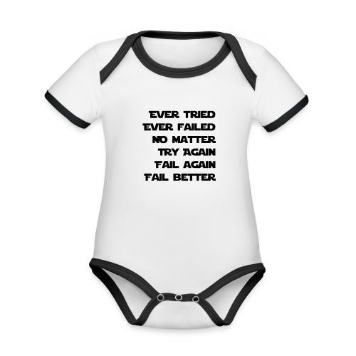 EVER TRIED, EVER FAILED - Baby Bio-Kurzarm-Kontrastbody