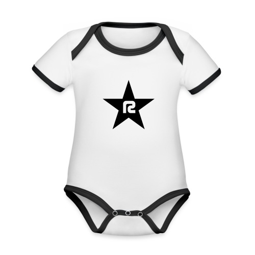 R STAR - Baby Bio-Kurzarm-Kontrastbody