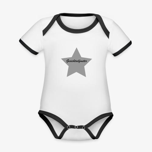 Gesichtselfmeter - Baby Bio-Kurzarm-Kontrastbody