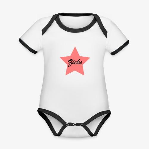 Zicke - Baby Bio-Kurzarm-Kontrastbody