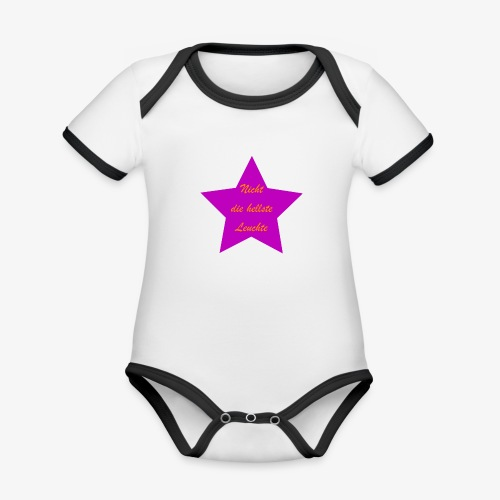 Leuchte - Baby Bio-Kurzarm-Kontrastbody