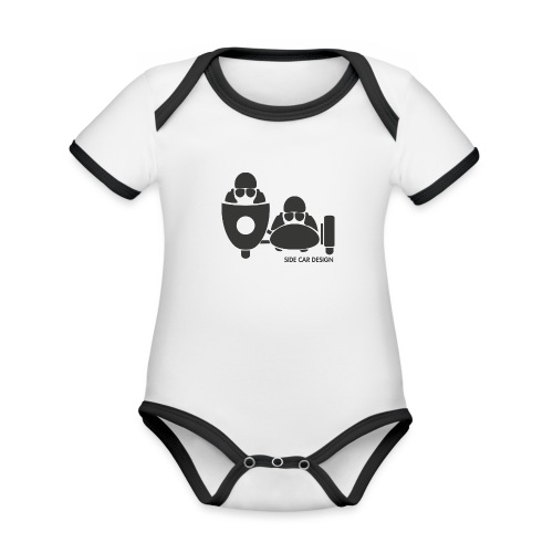BASSET LOGO - Body Bébé bio contrasté manches courtes
