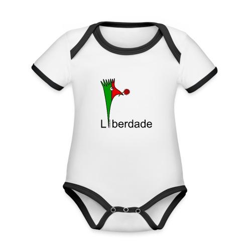 Galoloco - Liberdaded - 25 Abril - Body Bébé bio contrasté manches courtes