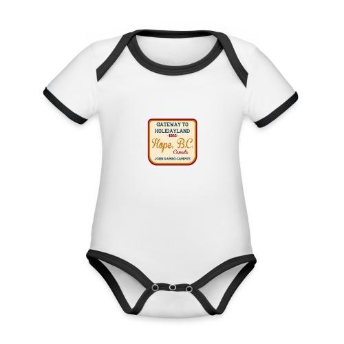 Rambo Hope Holidayland - Ekologiczne body niemowlęce z krótkim rękawem i kontrastowymi lamówkami