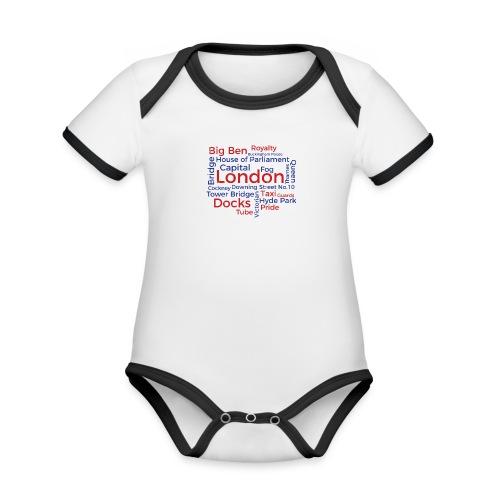London Word Cloud - London Souvenir Schlagworte - Baby Bio-Kurzarm-Kontrastbody