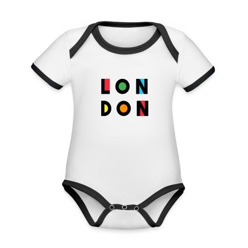 Vintage London Souvenir - Retro Modern Art London - Baby Bio-Kurzarm-Kontrastbody