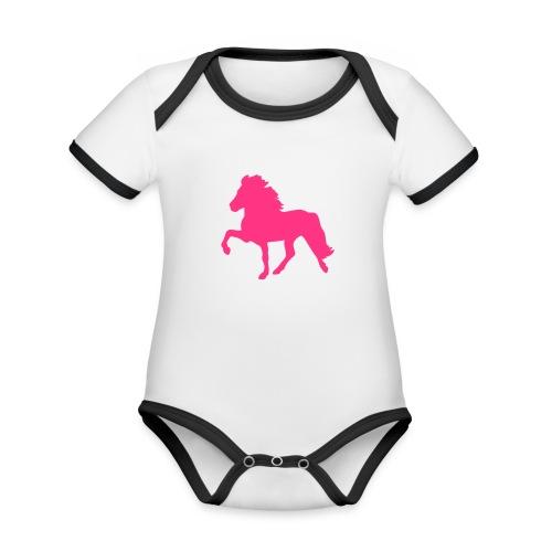 Tölter - Baby Bio-Kurzarm-Kontrastbody