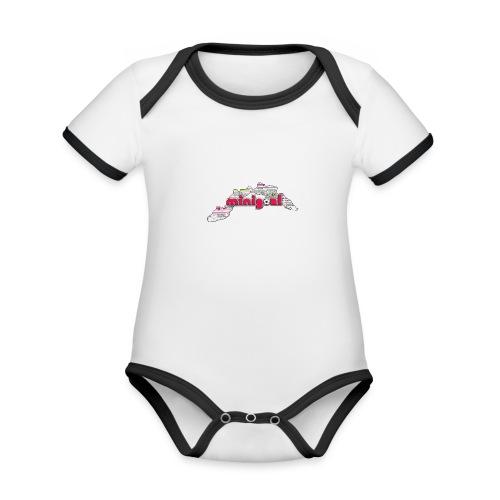 Maglietta Donna Liguria - Body da neonato a manica corta, ecologico e in contrasto cromatico