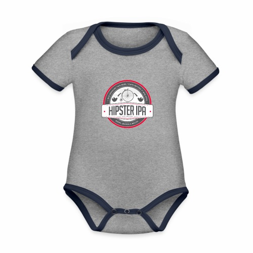 Hipster IPA - Organic Baby Contrasting Bodysuit
