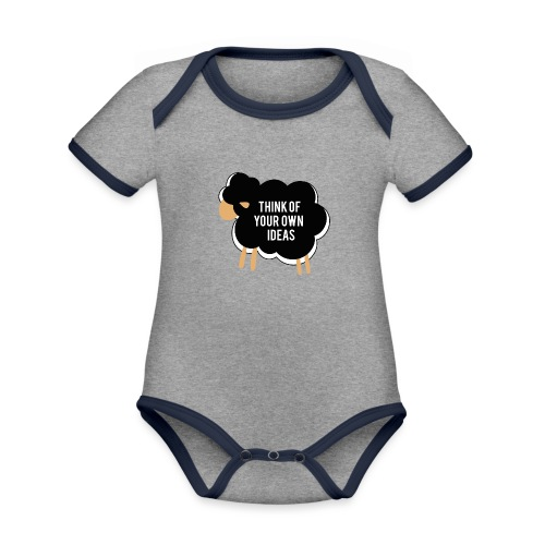 Think of your own idea! - Organic Baby Contrasting Bodysuit