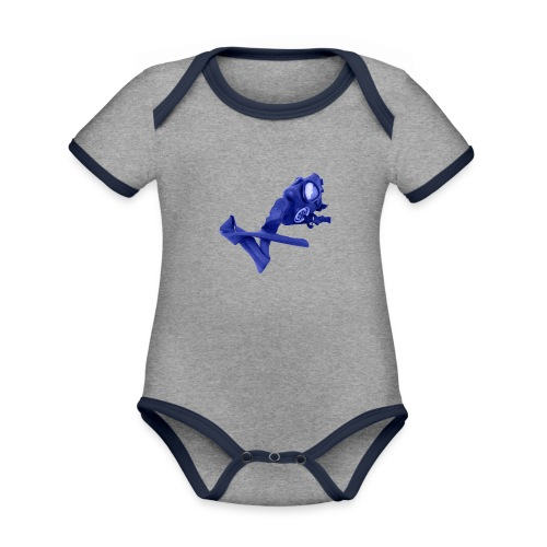 gas mask - Organic Baby Contrasting Bodysuit