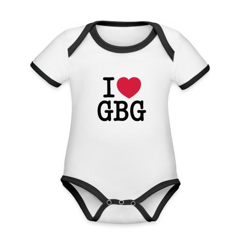 I love GBG - Ekologisk kontrastfärgad kortärmad babybody