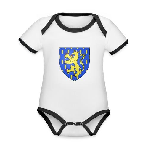 Blason de la Franche-Comté avec fond transparent - Body Bébé bio contrasté manches courtes