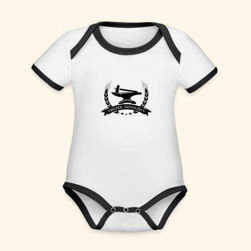 smedolvector svart - Ekologisk kontrastfärgad kortärmad babybody