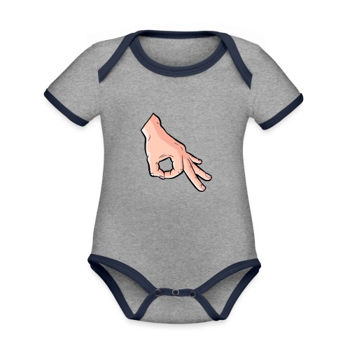 The Circle Game Ok Emoji Meme - Organic Baby Contrasting Bodysuit