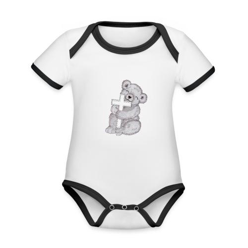 Loggis - Ekologisk kontrastfärgad kortärmad babybody