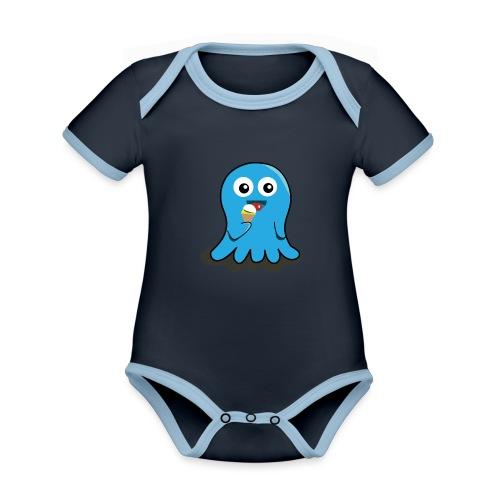 Baby summer - Body Bébé bio contrasté manches courtes